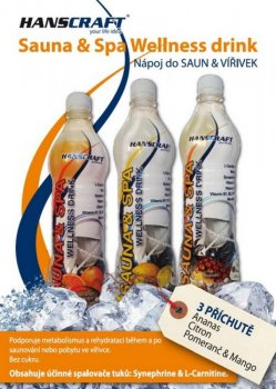 SAUNA & SPA wellness drink HANSCRAFT - ananas