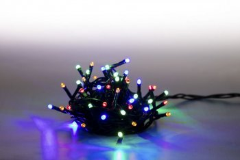 Reťaz svetelný 200 LED 10 m - farebný - 8 funkcií