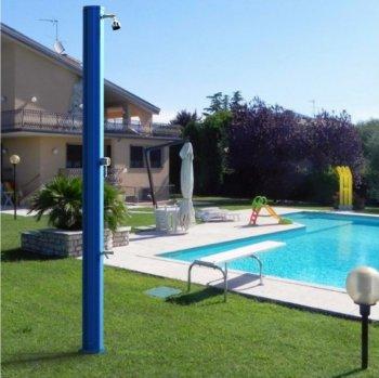 Solární sprcha s oplachem nohou BIG JOLLY modrá