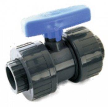 Ventil kulový dvojcestný lep/lep 40 mm - PT