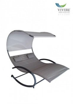 Vivere - Double Chaise Rocker # Sienna