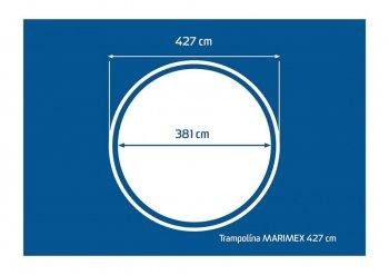 Trampolína Marimex 427 cm - 2 kartony