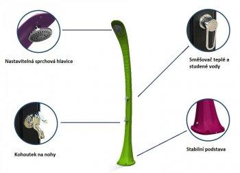 Solární sprcha s oplachem nohou COBRA černá