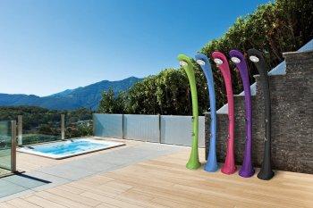 Solární sprcha s oplachem nohou COBRA zelená