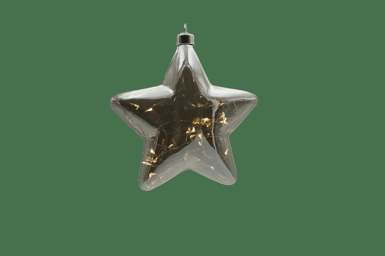 Hviezda maxi Strieborná Crystal